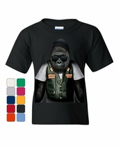Biker Ape Youth T-Shirt Gorilla Motorcycle Route 66 Chopper Bobber Kids Tee - $8.34+