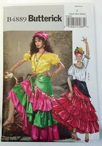 Butterick B4889 Pattern Gypsy Boho Spanish Flamenco Dancer Costume XS - ... - $7.91