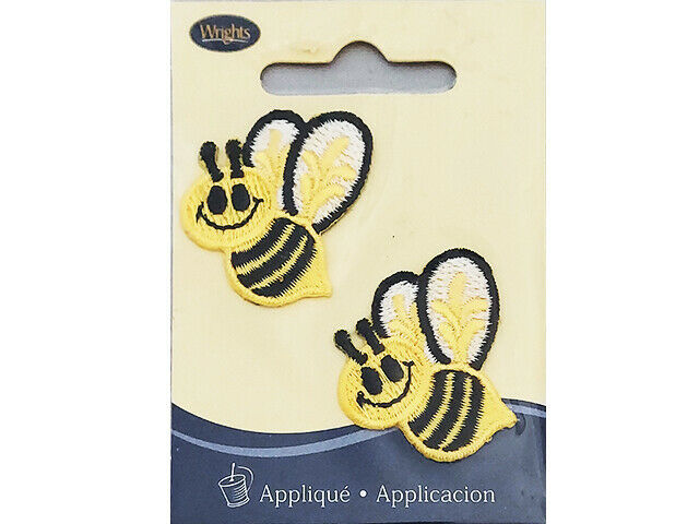 Wrights Iron-On Applique, Bumble Bees, Set of 2 #1931440001