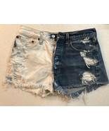 Women's Vintage Levis Distressed Denim Multicolor Shorts 32 X 36 - $54.33