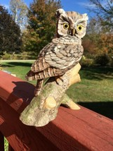 Screech Owl Hamilton Collection Maruri Majestic Owl Night Vtg Figurine 1986 - $29.92