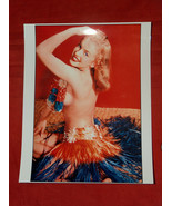 "8X10"" Color Photo of a Young MARILYN MONROE w/ Lei Topless Reprint on Fu... - $24.74"
