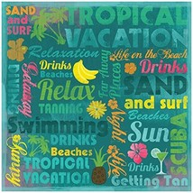 "Tropical Vacation Paper 12""X12""-Life On The Beach Collage  25 per pack - $23.58"