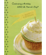 Cupcake St. Patrick's Day Birthday Card - $3.29