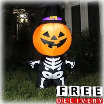 Halloween Inflatable Decoration 5' Outdoor Garden Scary Pumpkin Yard Gem... - £37.17 GBP