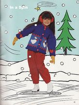 Childs Outdoor Knit Skating Varsity Skiing North Country Sweater Pattern... - $12.99