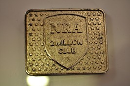 Vintage 70's NRA 2 Million Club Belt Buckle Silver Tone - $12.22