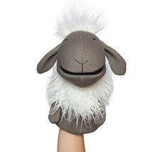 Manhattan Toy Knit Puppets Meadow Hand Puppet Sheep - $10.88