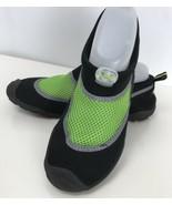 C9 Champion Youth Boy Black Neon Green Peter Water Shoes Aqua Shock XL 6 - $19.79
