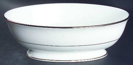"2005 Apropos by Lenox 9"" Fine White China Oval Open Vegetable Bowl Made In The U - $75.00"
