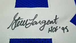 STEVE LARGENT / NFL HALL OF FAME / AUTOGRAPHED SEAHAWKS BLUE CUSTOM JERSEY / COA image 4