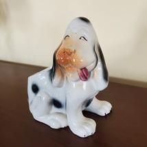 Vintage Dog Planter, Basset Hound Pot, Mid Century Japan Ceramic Puppy Flowerpot image 2