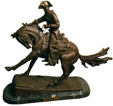 Artistic Solutions Cowboy American Handmade Solid Bronze Sculpture By Fr... - $289.10
