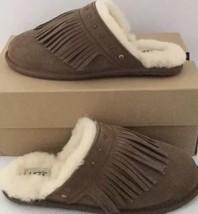 Nuovo Ugg Australia Amarina Camoscio pelle di Pecora Slide Frangia Pantofole - $59.39