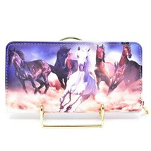 Bijorca Country Western Running Horse Herd Vinyl Clutch Wallet New with Tags image 2