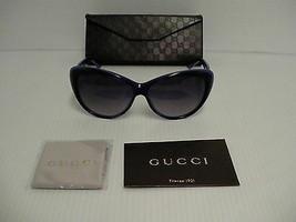 Authentique Gucci Neuf Soleil Femmes Chat Eye Bleu Violet Gg 3510S Woidg - $236.34