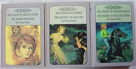 Nancy Drew Twin Thrillers 3 LOT Lavender covers Book Club Editions Carol... - $12.00