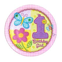 """Amscan Hugs & Stitches Girl 10 1/2"""" Plates - 8 ct - $5.89"""