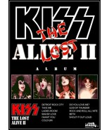 """KISS Rock Band ALIVE II """"The Lost Album"""" Stand-Up Display - Gene Simmons... - $15.99"""