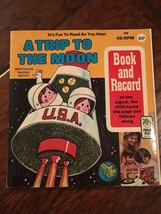Peter Pan Records A Trip to the Moon Book Record 45 RPM 1956 Maddie Brod... - $16.83