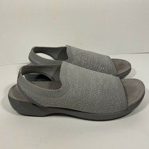 TRAQ By Alegria Barett Ash Gray Knit Sport Sandals Women's Size EUR 40 U... - $29.69