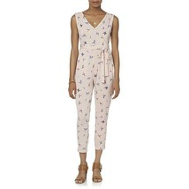 Simply Styled Womens Petite XL Rose Pink Smoke Floral Tie Strap Jumpsuit... - $23.36