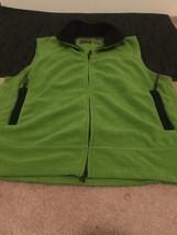 ST JOHNS BAY Adult Zip Up Fleece Vest Sz M Green Jacket - $62.10