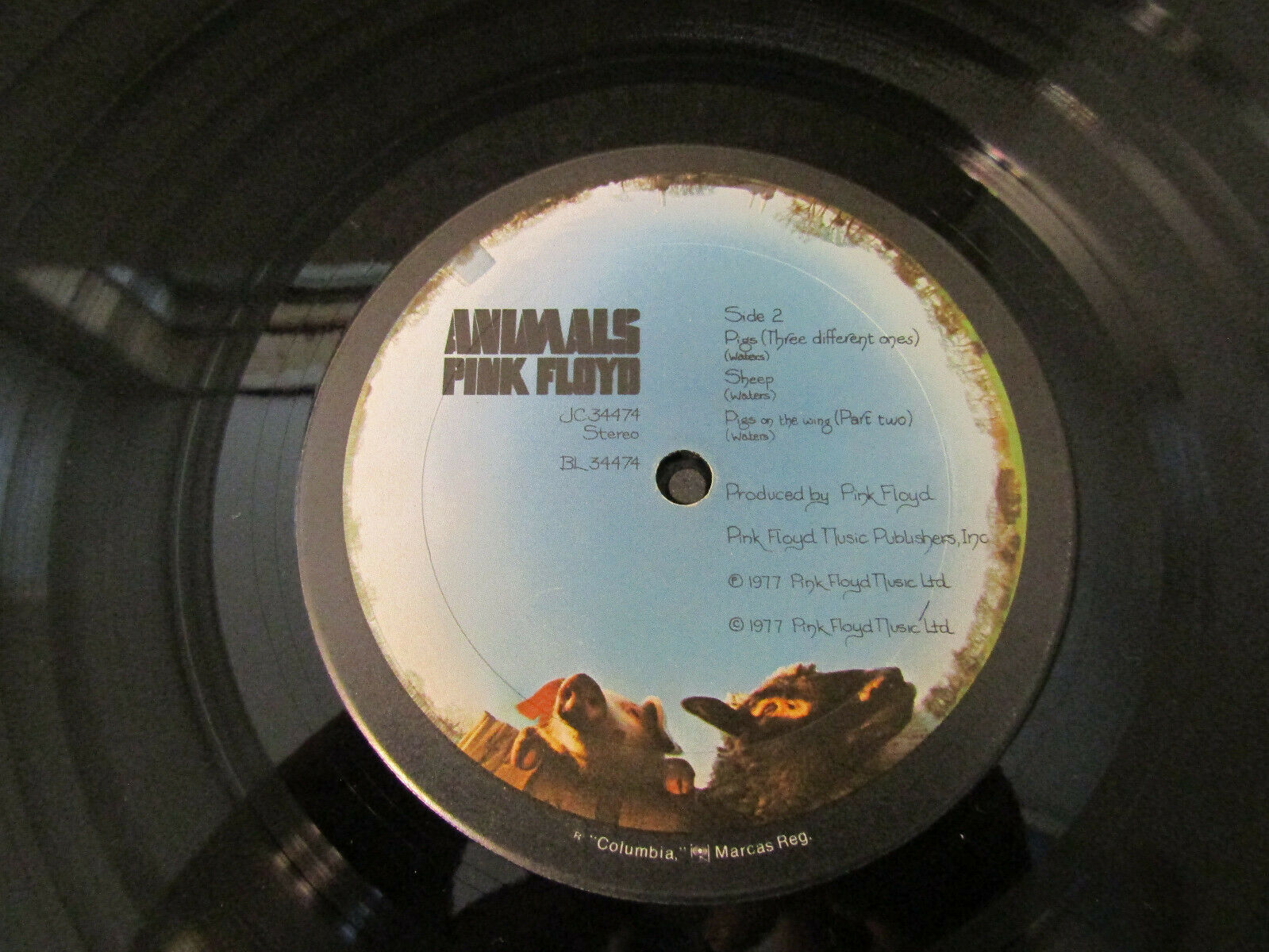 Pink Floyd Animals Columbia JC 34474 Stereo Record LP image 6
