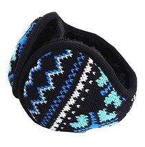 Unisex Foldable Earmuffs Warm Knit Ear Warmers Fleece Winter EarMuffs, B7 - $12.72