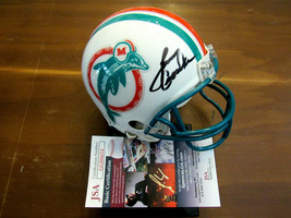 LARRY CSONKA SB PERFECT SEASON MIAMI DOLPHINS HOF SIGNED AUTO MINI HELME... - $217.79