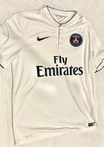 Men's Nike Paris Saint Germain PSG White Away Jersey Large - $33.25