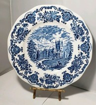Enoch Wedgwood Royal Homes Of Britain Dinner Plate Blue & White - $8.54