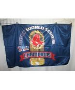 2007 BOSTON RED SOX WORLD SERIES CHAMPIONS HORIZONTAL FLAG 58' X 35 - $29.69