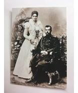 Emperor Nicholas II And Empress Alexandra Feodorovna Royalty Postcard Ph... - $1.70