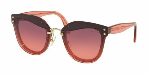 Miu Miu Reveal Evolution SMU03T 100PZ0 Raspberry / Violet Pink Shaded Sunglasses