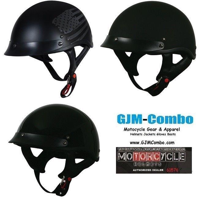 380bd18c Torc T53 Skull Cap Sun Visor Motorcycle Half and 50 similar items