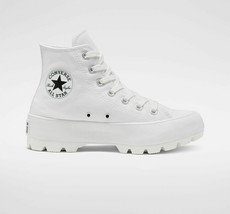 Donna Converse Chuck Taylor All Star Hi Trascinato Bianco Nuovo Plateau Sneakers - $178.08+