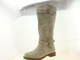 Journee Collection Womens WC Bite Knee-High Boots Taupe Size 9.5 - $34.44