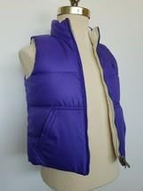 Ralph Lauren Girls Reversible Down Puffer Vest Purple Ivory Size 5 NWT - $59.99