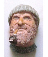 "1990 W.H.Bossons Titled ""FISHERMAN"" Handpainted Plaster Molded Wall Plaq... - $101.99"