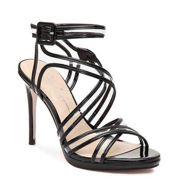 Jessica Simpson 'Kendele2' Heeled Platform Sandals Black size 9 - $41.73