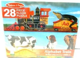 Melissa & Doug Alphabet Train Jumbo Jigsaw Floor Puzzle Letters & Animal... - $9.73