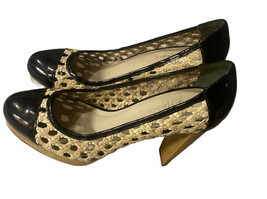 Cole Haan Air Stephanie Wicker and Patent Heels Nikeair Size 8 M - $34.64