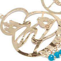 Drop Earrings Silver 925, Carriage, Castle, le Favole, Agate Blue image 3