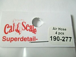 Cal Cal Scale # 190-277 Air Hose Brass 4 pieces HO Scale image 2