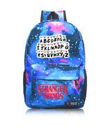 Stranger Things Theme Starry Sky Backpack Daypack Schoolbag Letters - $23.99