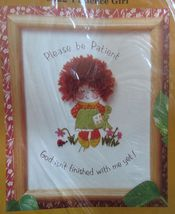 Creative Circle Patience Girl Inspirational Shower Crewel Embroidery Kit... - $16.99