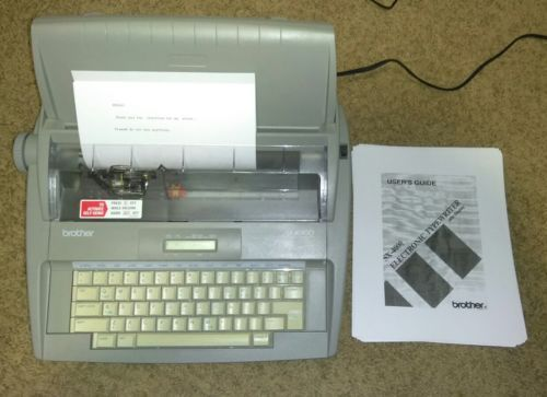 brother sx 4000 electronic portable and 50 similar items rh bonanza com brother sx-4000 electronic typewriter manual Purchase Brother SX-4000 Electric Typewriter