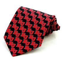 Kansas Jayhawks Mens Silk Necktie Ralph Marlin College University Black Neck Tie - $31.68