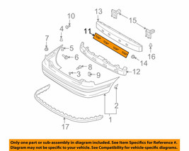 866852D000 NEW HYUNDAI OEM Rear Bumper Lower Bracket fits 01-06 Elantra - $8.81